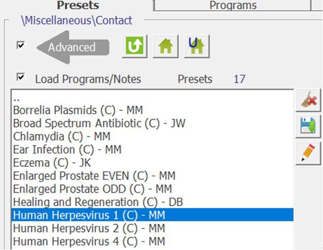 Presets for Human Herpesvirus 2